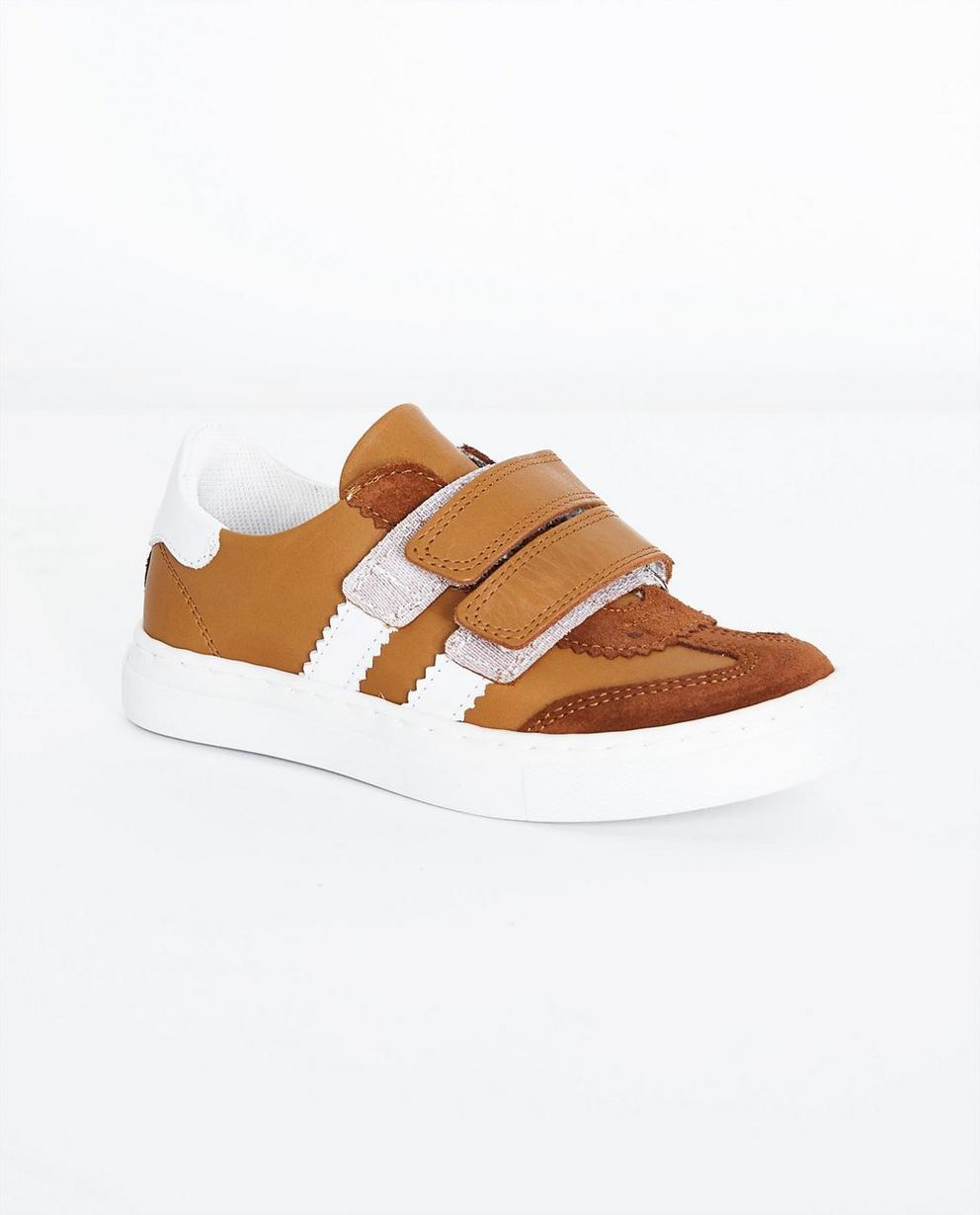 Camelfarbene Sneakers - aus Leder, Größe 27-32 - JBC